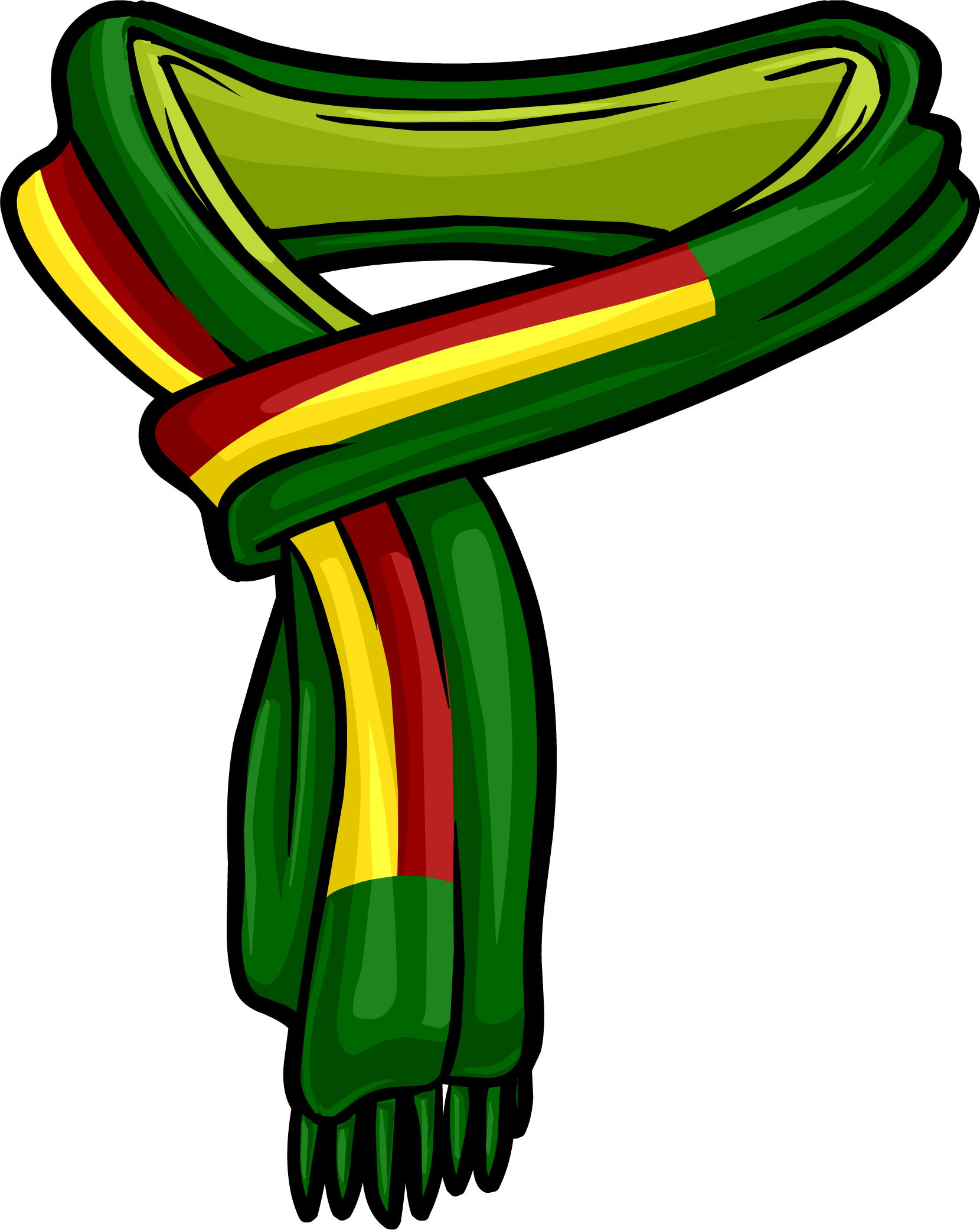 Green Scarf PNG Image