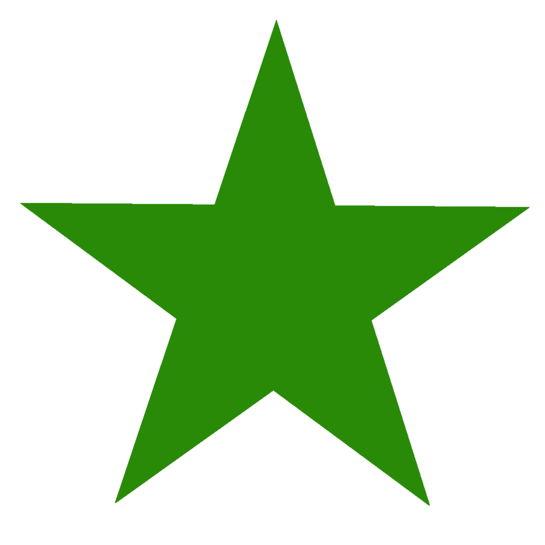 Green  Star PNG Image