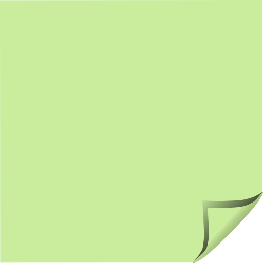Green Sticky Notes PNG Image