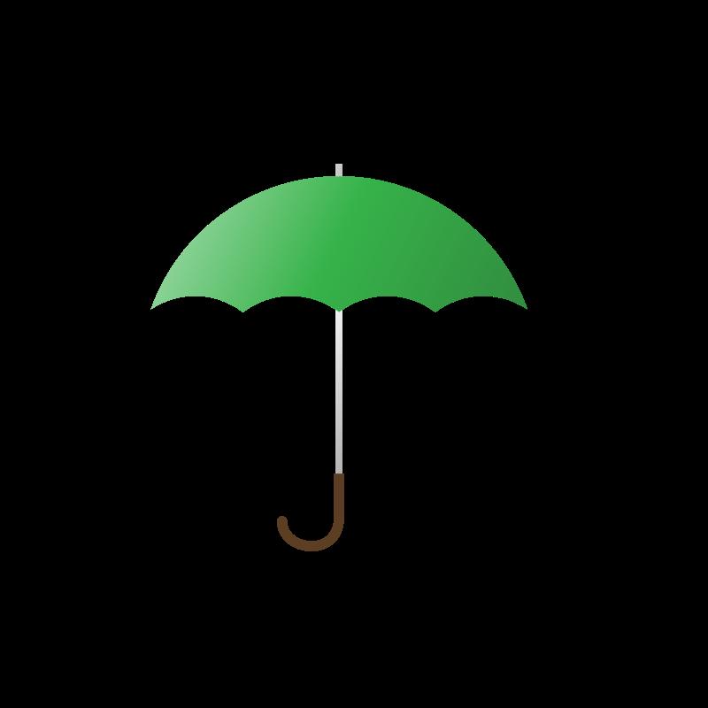 Green Umbrela PNG Image