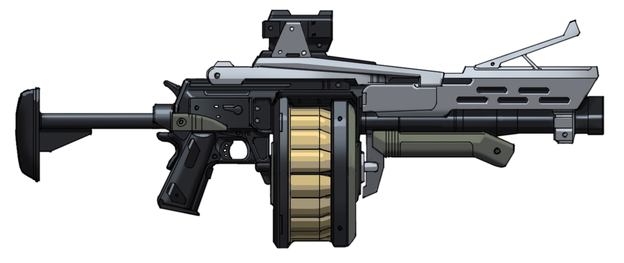 Grenade Launcher Clipart PNG Image