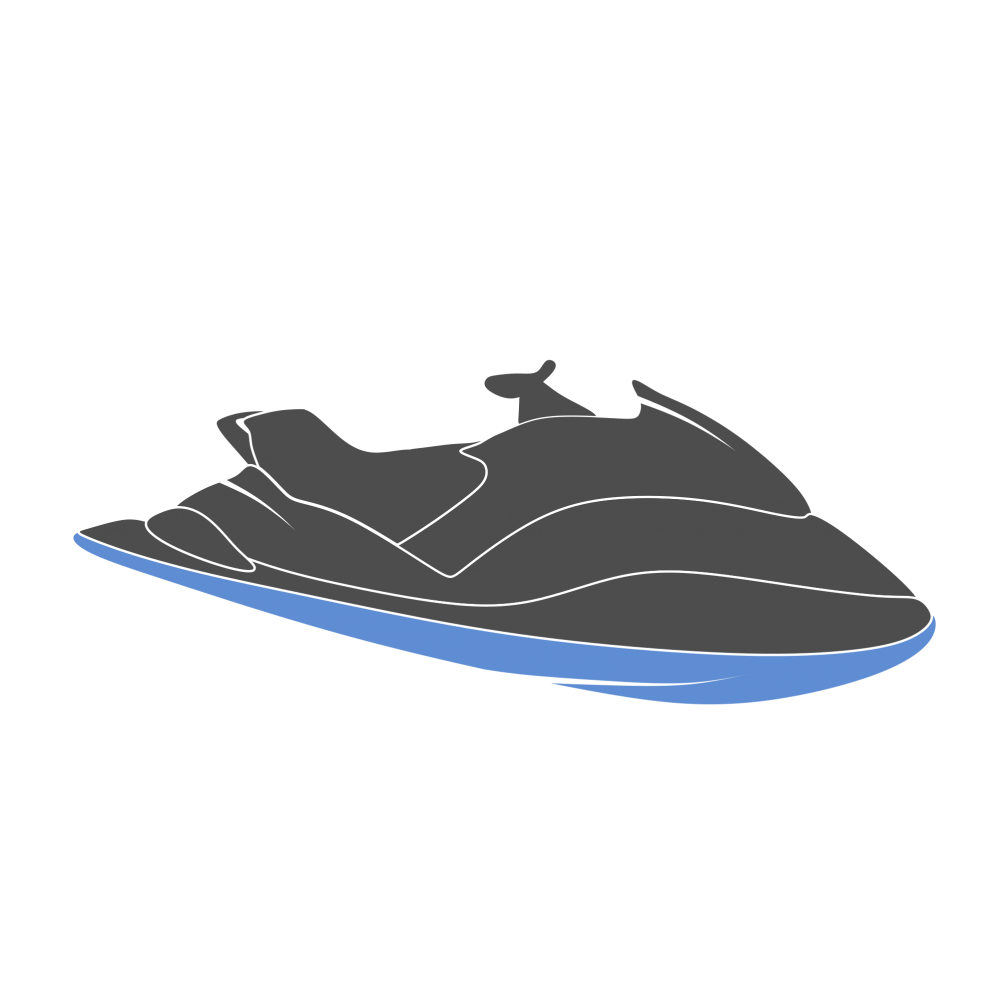 Grey Jet Ski PNG Image