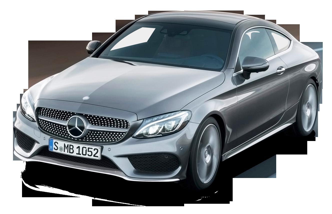 Grey Mercedes Benz C Class Coupe Car PNG Image
