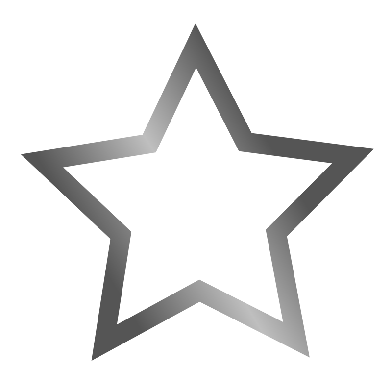Grey Star PNG Image