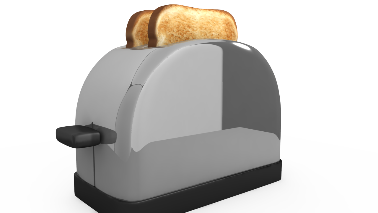 Grey Toaster PNG Image