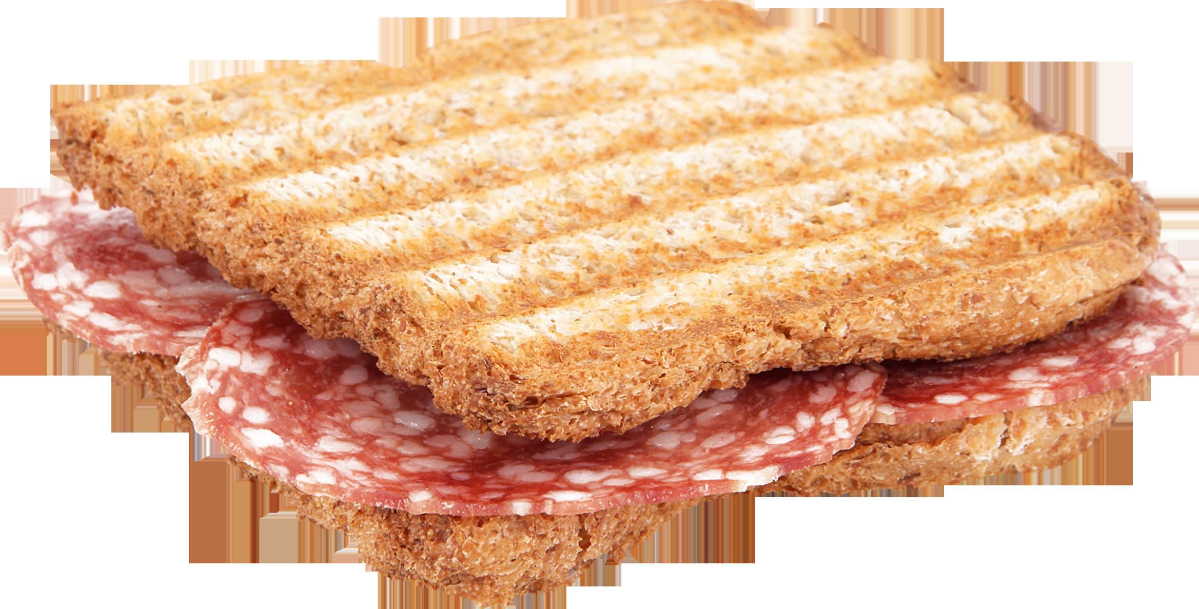 Grilled Salami Toast PNG Image
