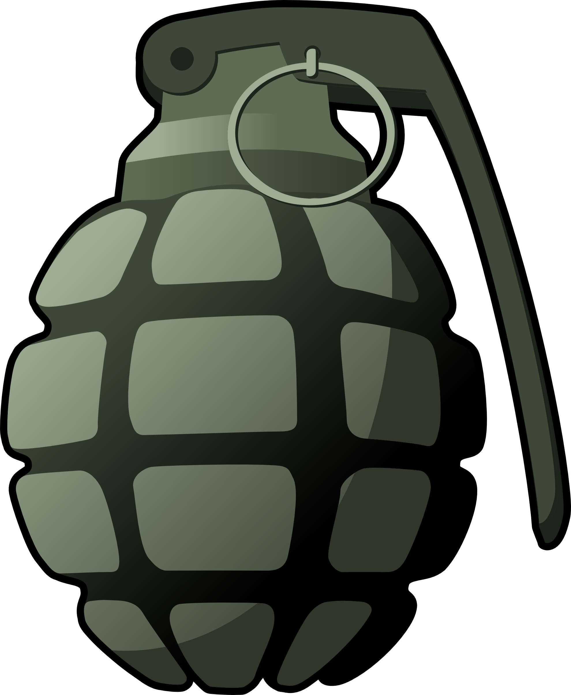 Hand Grenade Clipart PNG Image