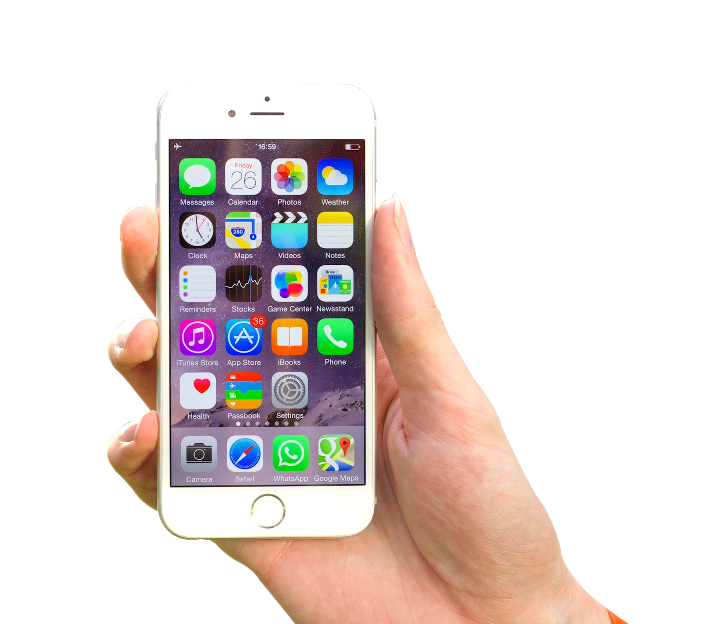 Hand Holding iPhone PNG Image
