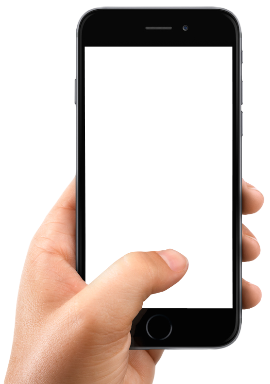 Hand Holding Smartphone PNG Image
