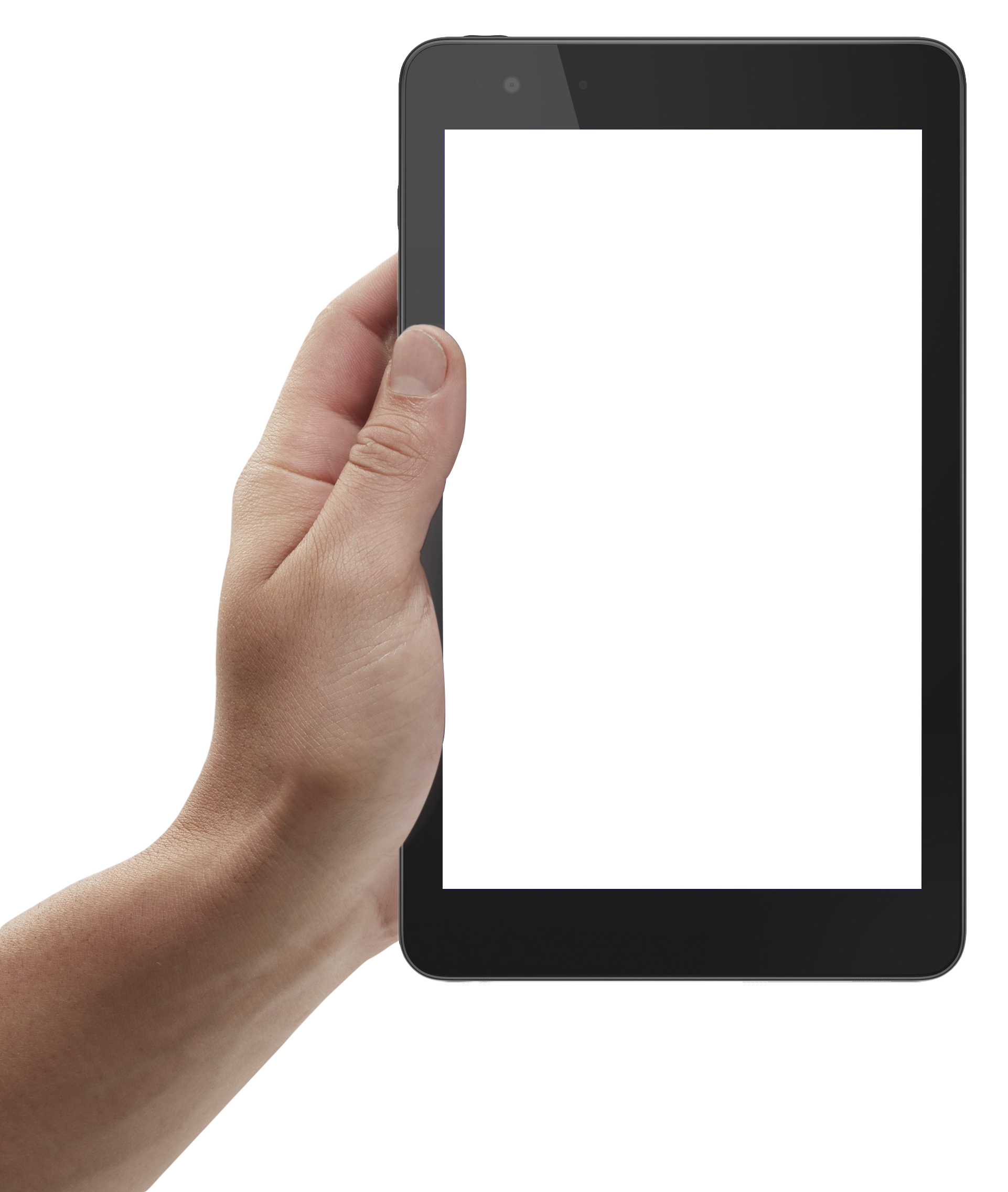 Hand Holding Tablet PNG Image