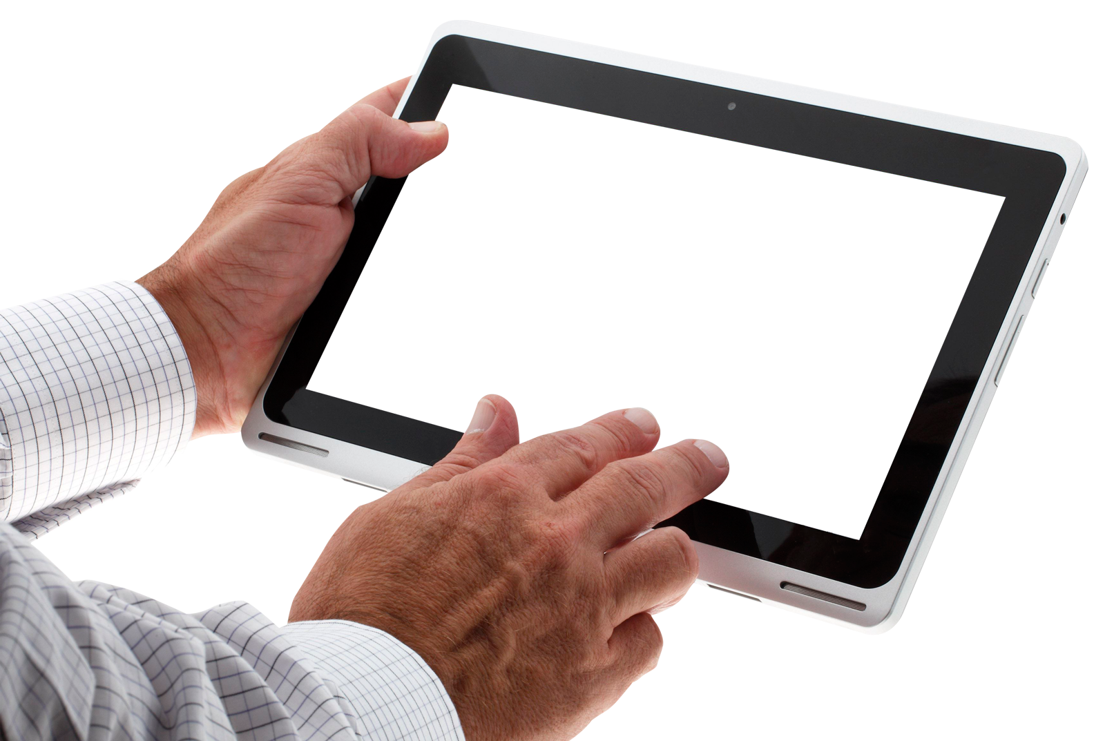 Hand Using Tablet PNG Image