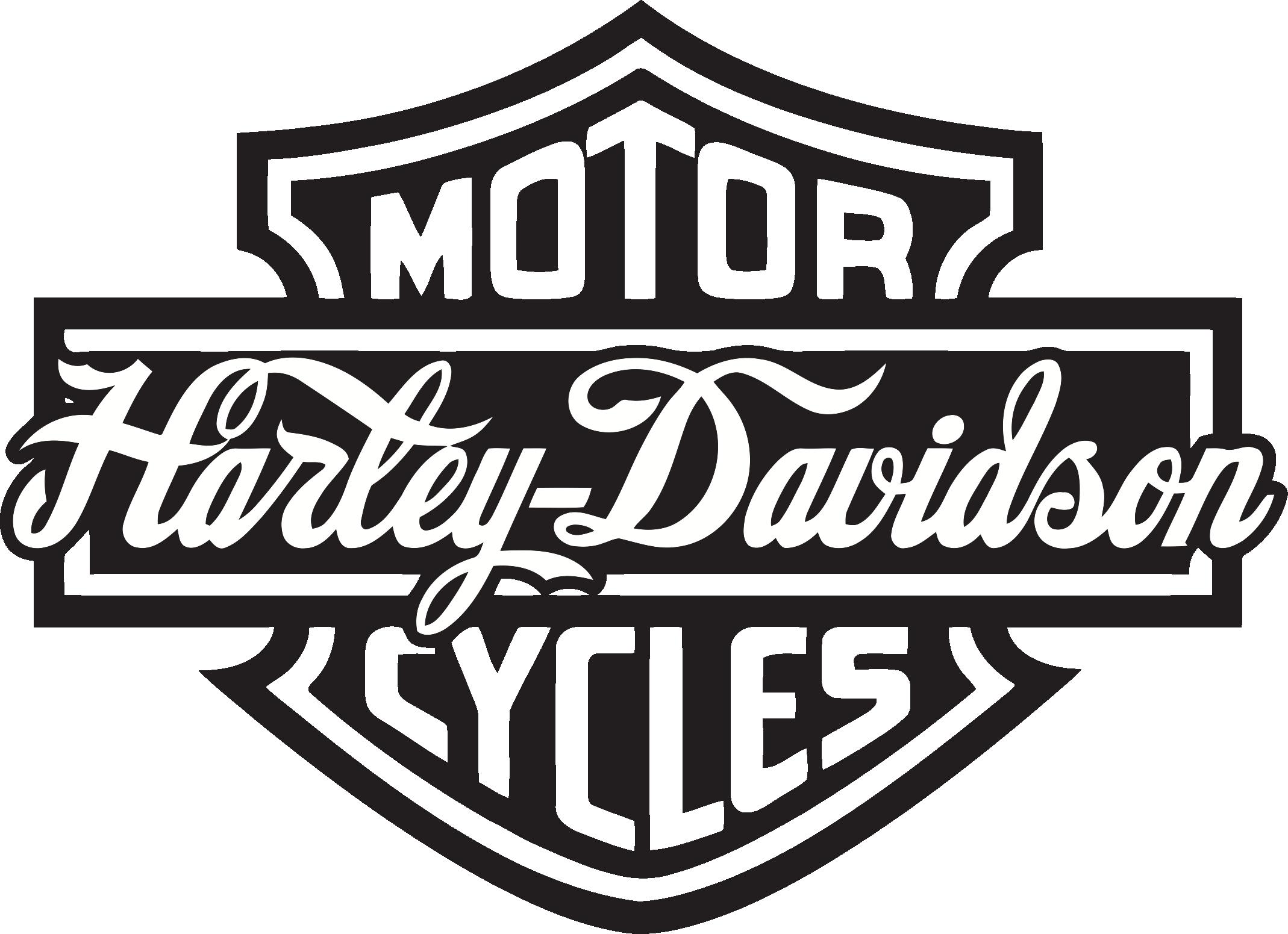 Harley Davidson Bling Black And White Clipart