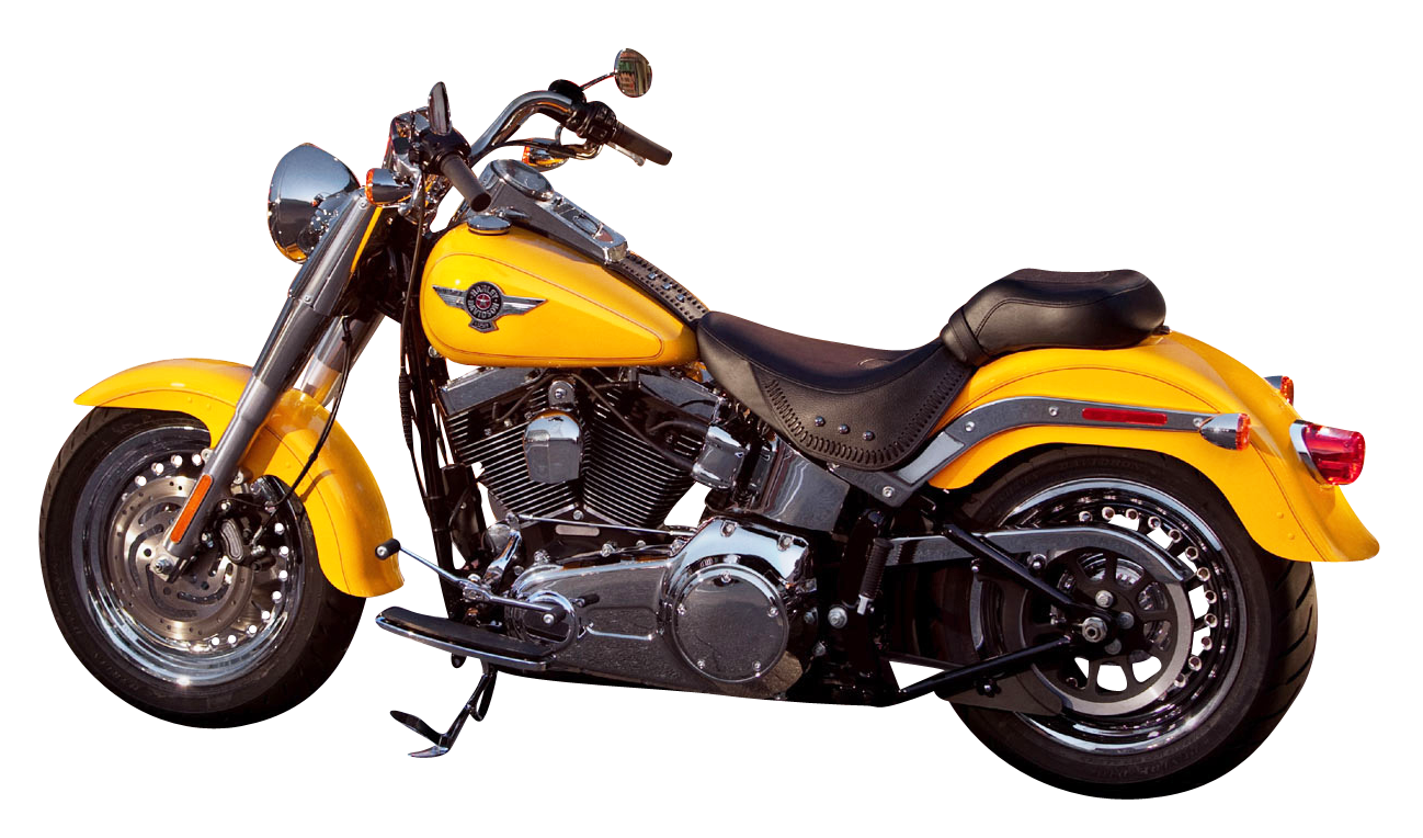 Harley Davidson Yellow PNG Image