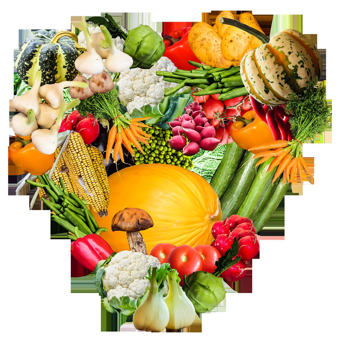 Heart Vegetables PNG Image