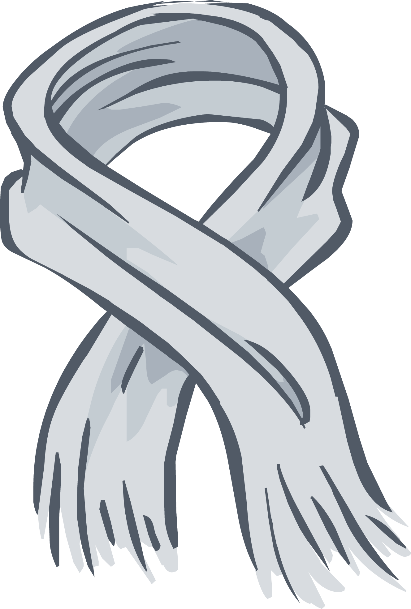 Heather Grey  Scarf PNG Image