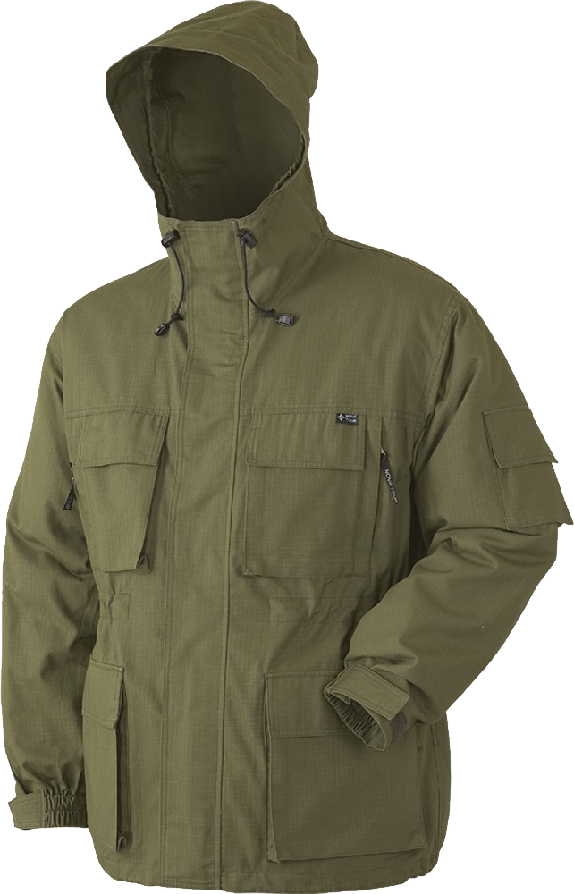 Hooded Deep Green Jacket PNG Image