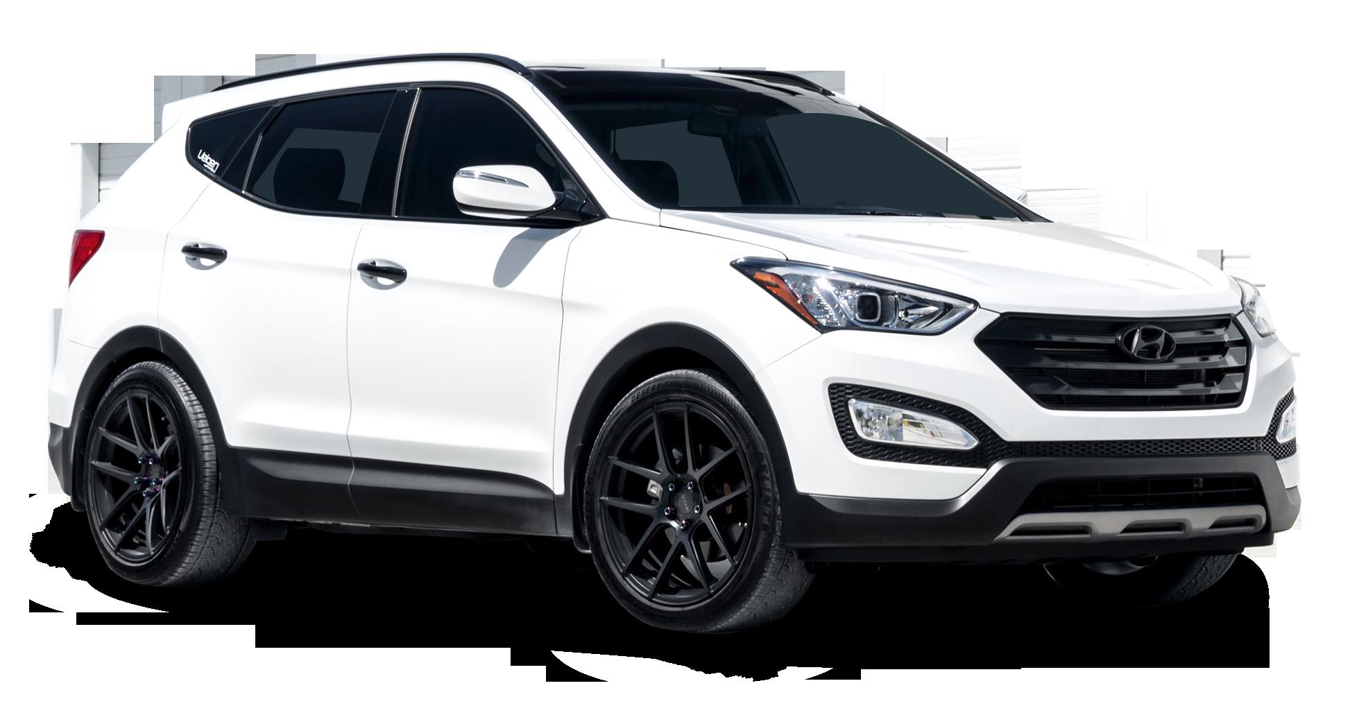 Hyundai Santa Fe White Car
