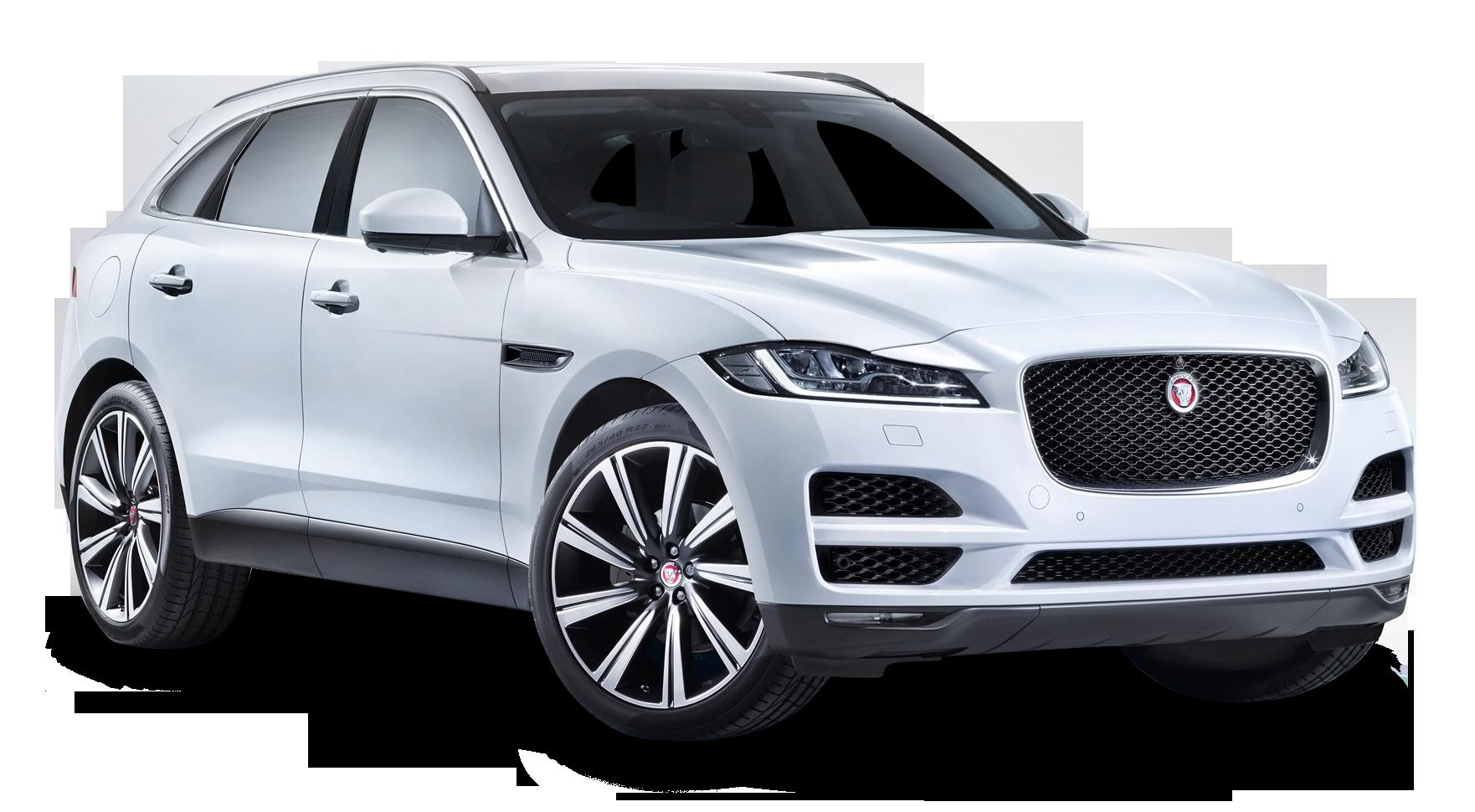 Jaguar F PACE White Car PNG Image