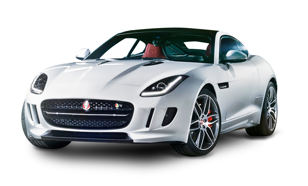 Jaguar F TYPE White Car PNG Image