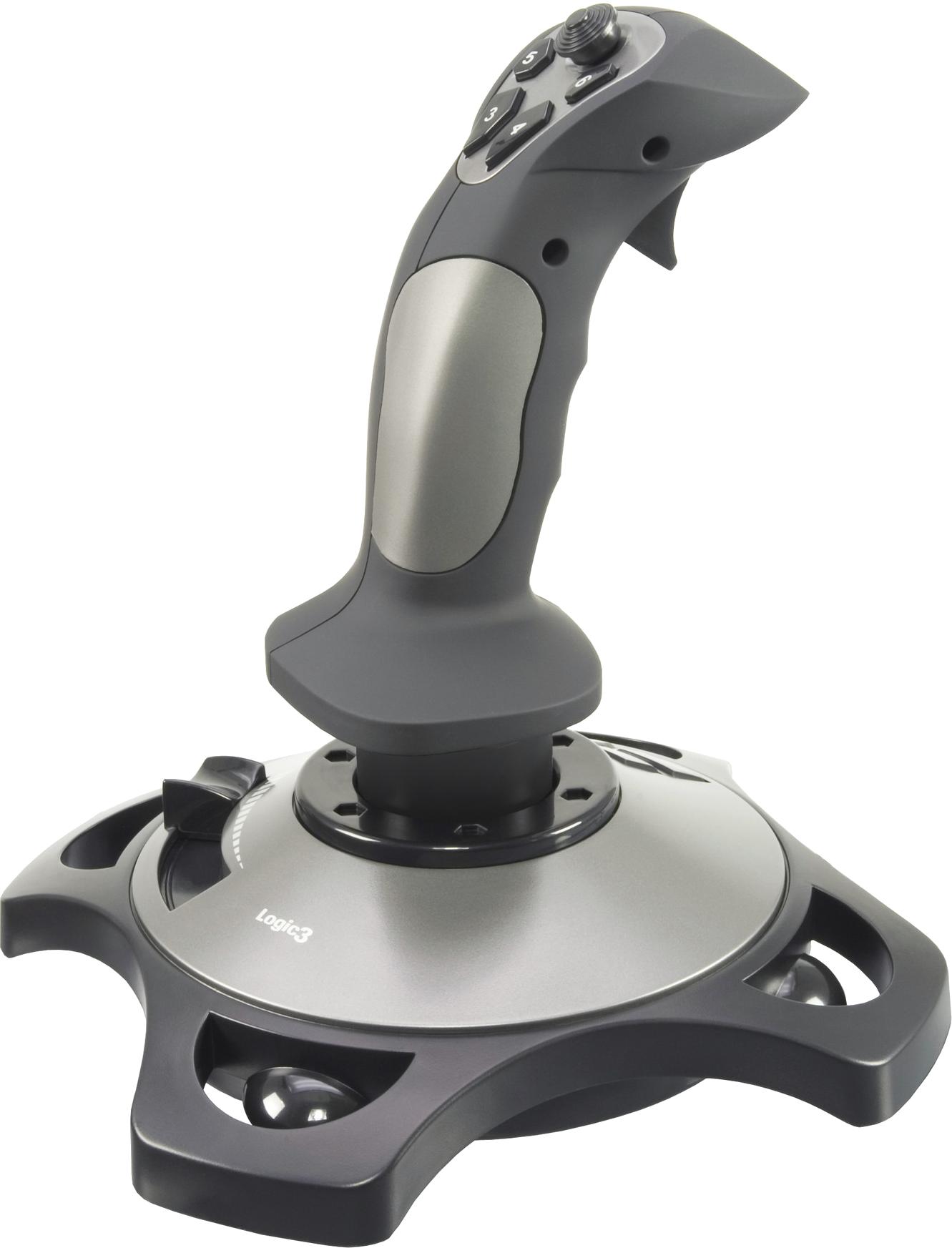 Logic 3 Silver Joystick PNG Image