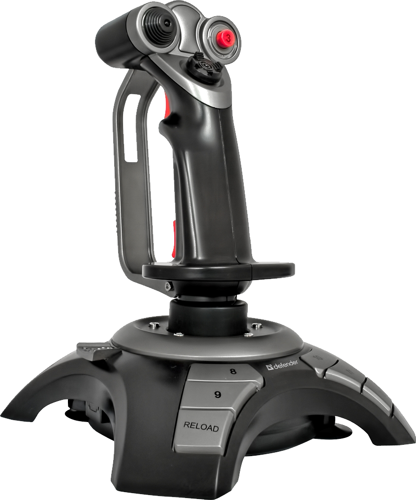 Joystick with Red Button PNG Image