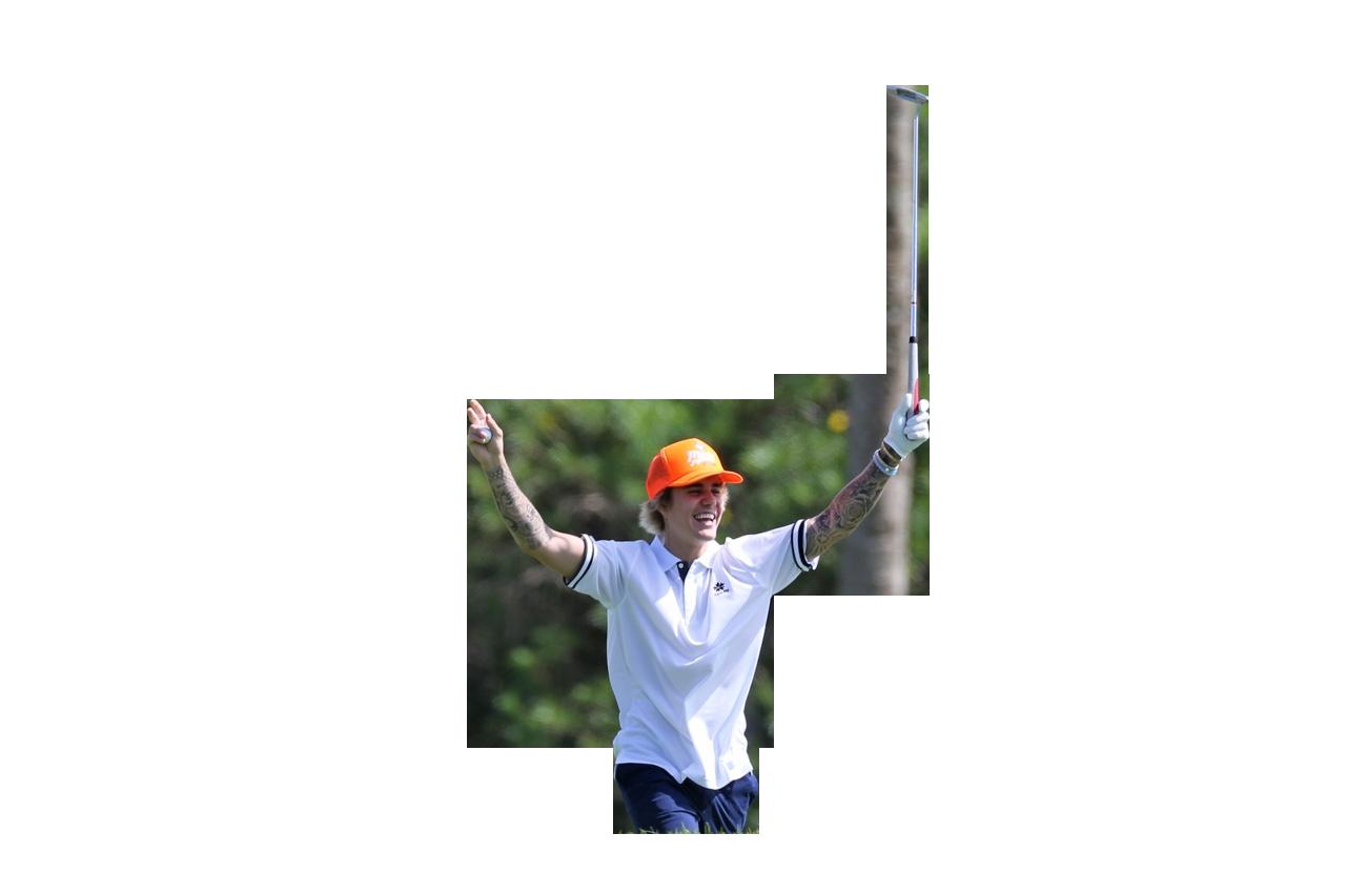 Justin Bieber Golfing PNG Image