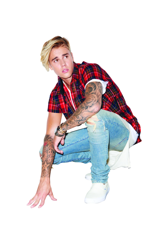 Justin Bieber Kneeling PNG Image