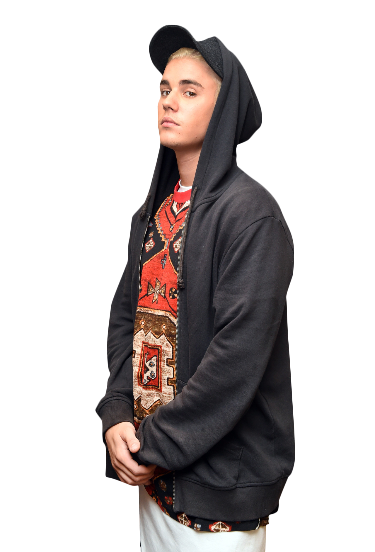 Justin Bieber Looking into Camera PNG Image