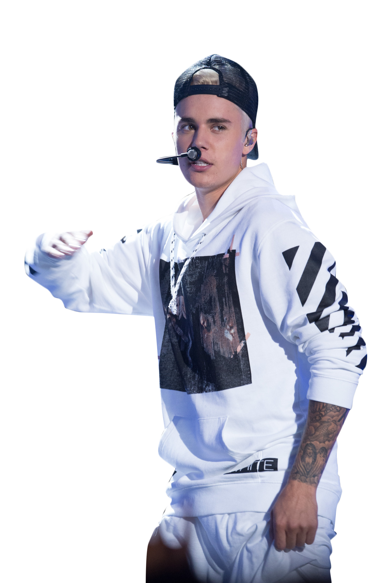 Justin Bieber on Stage PNG Image
