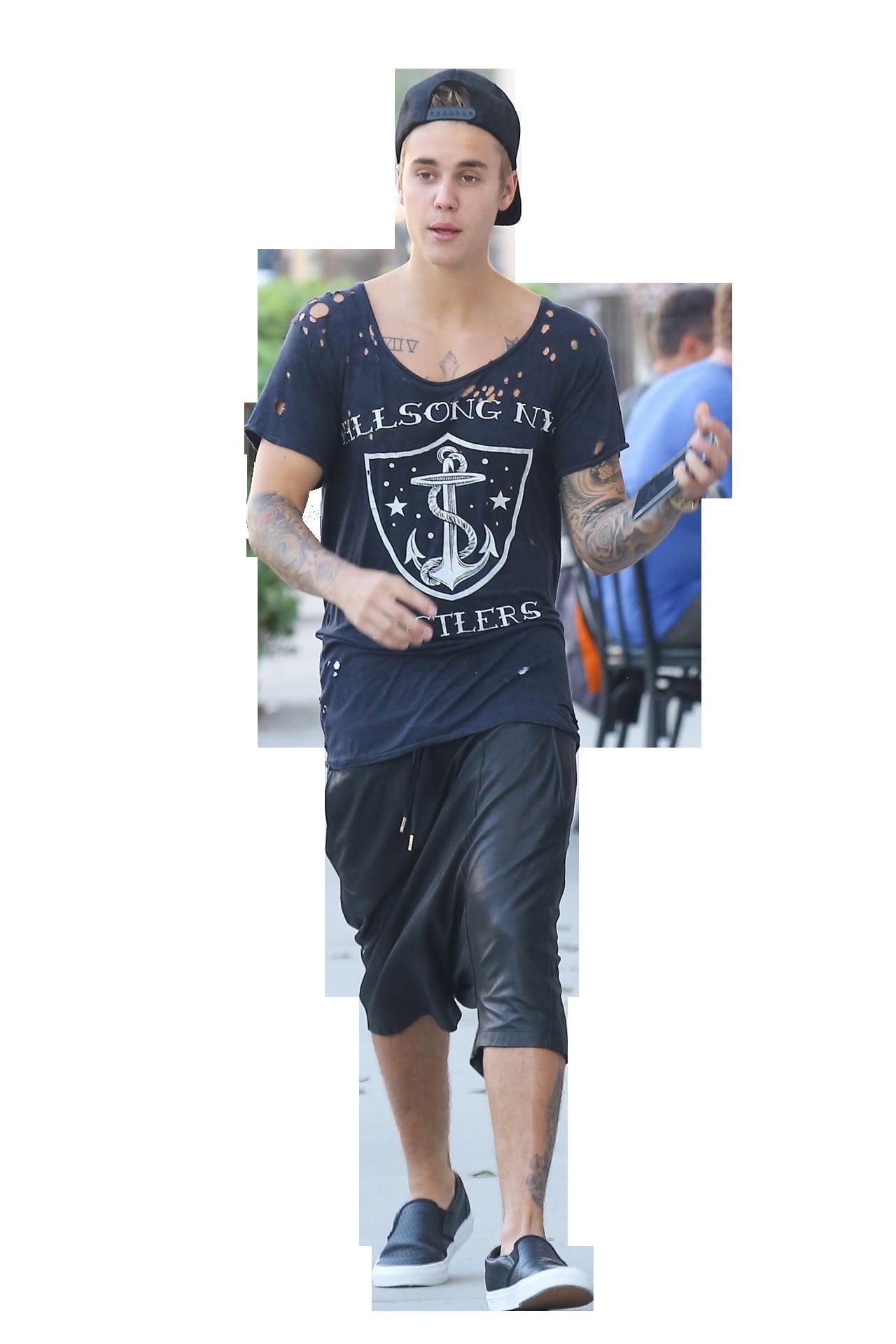 Justin Bieber Walking PNG Image