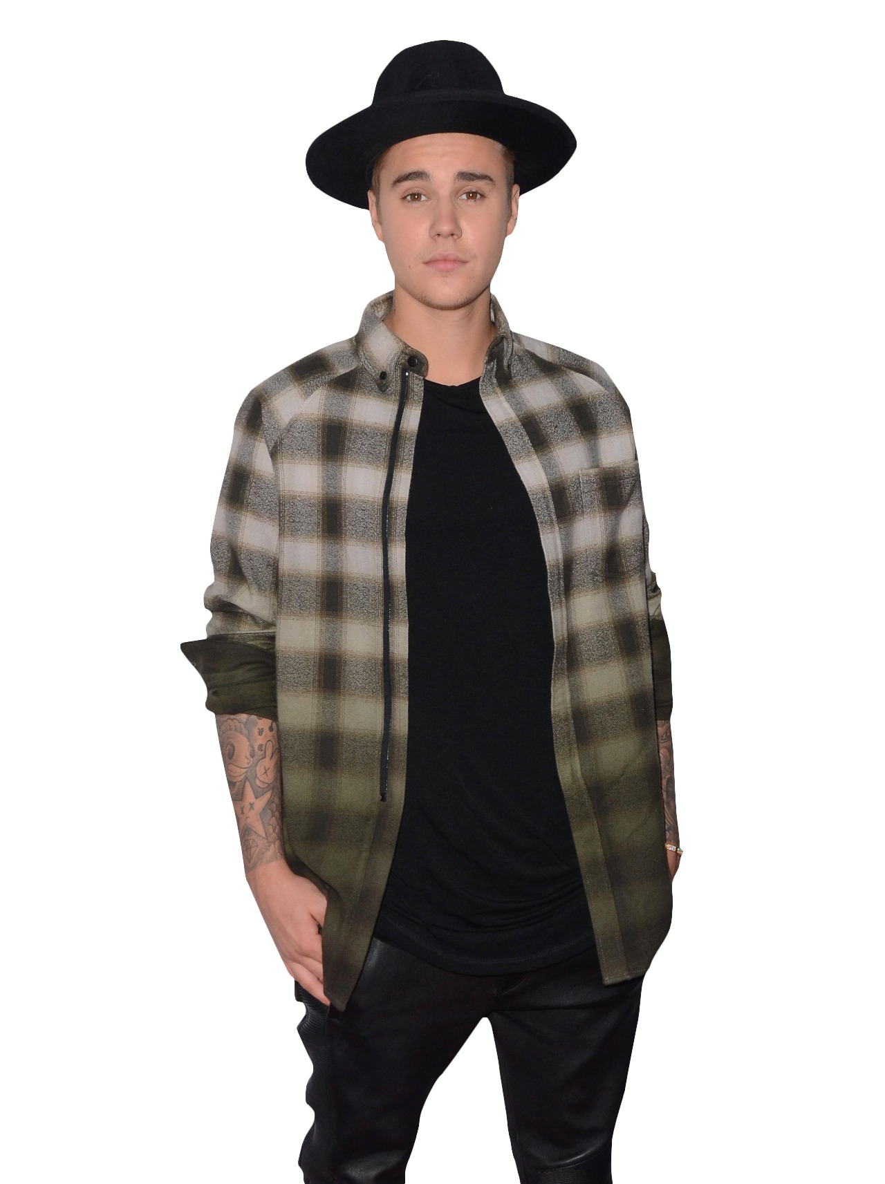 Justin Bieber with Hat PNG Image