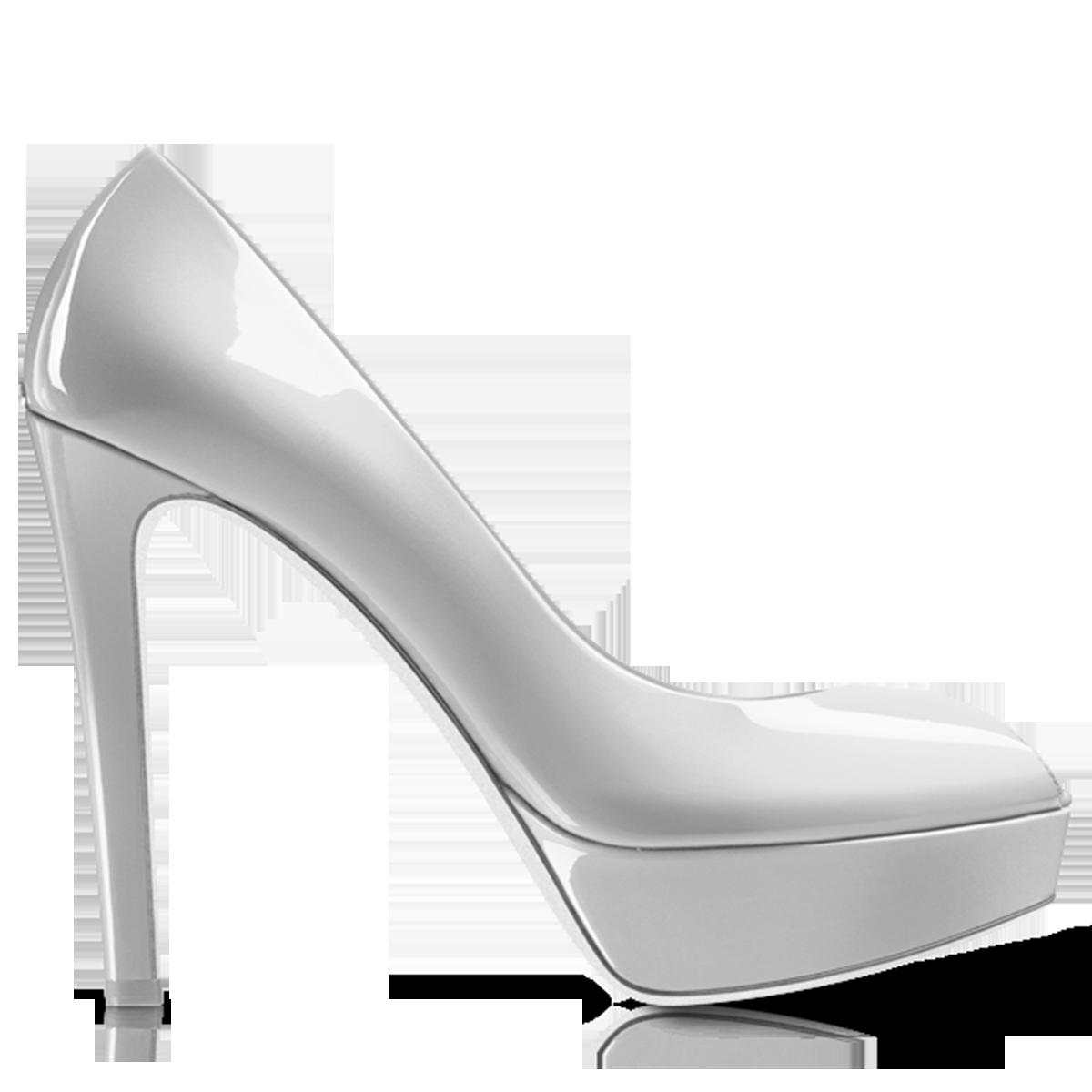 Kheila White Women Shoe PNG Image