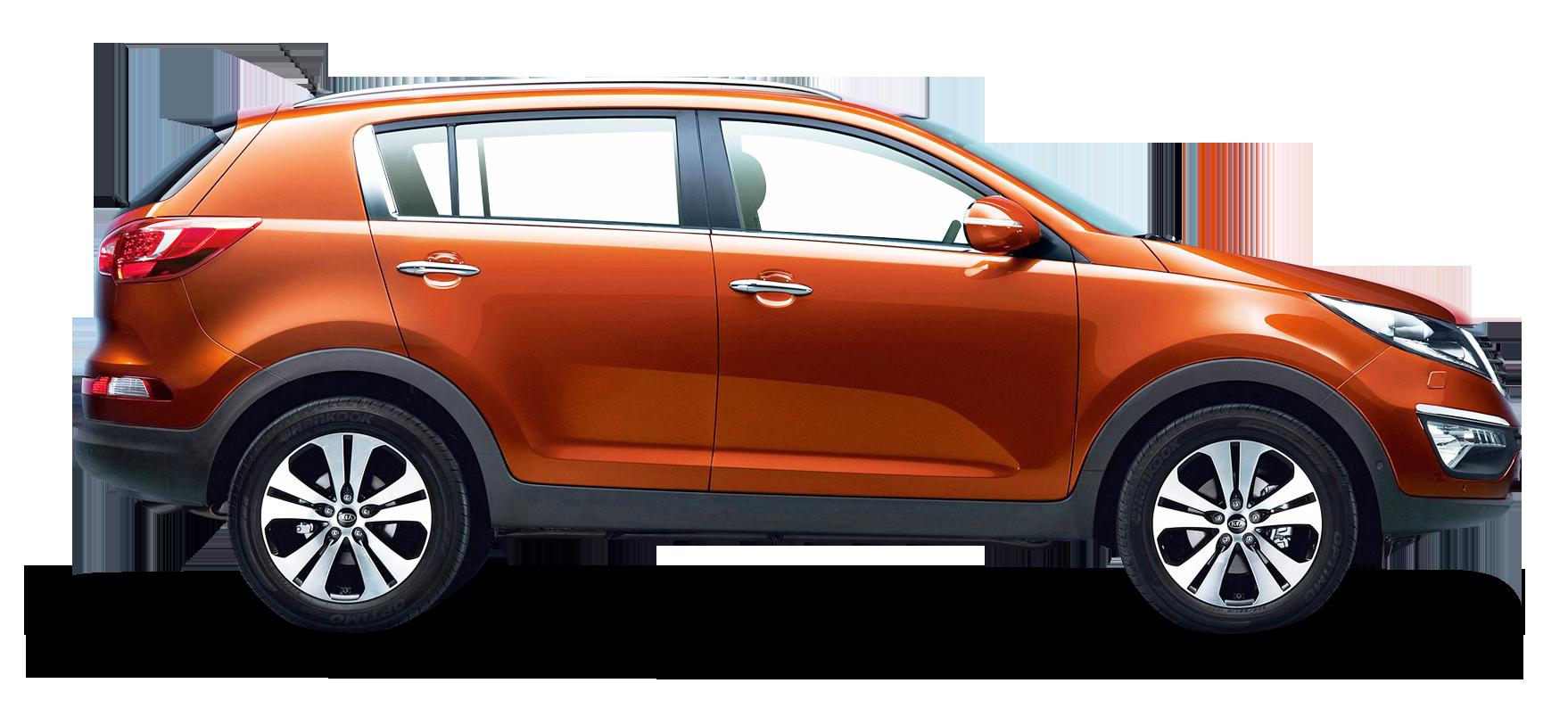 Kia Sportage Orange Car PNG Image