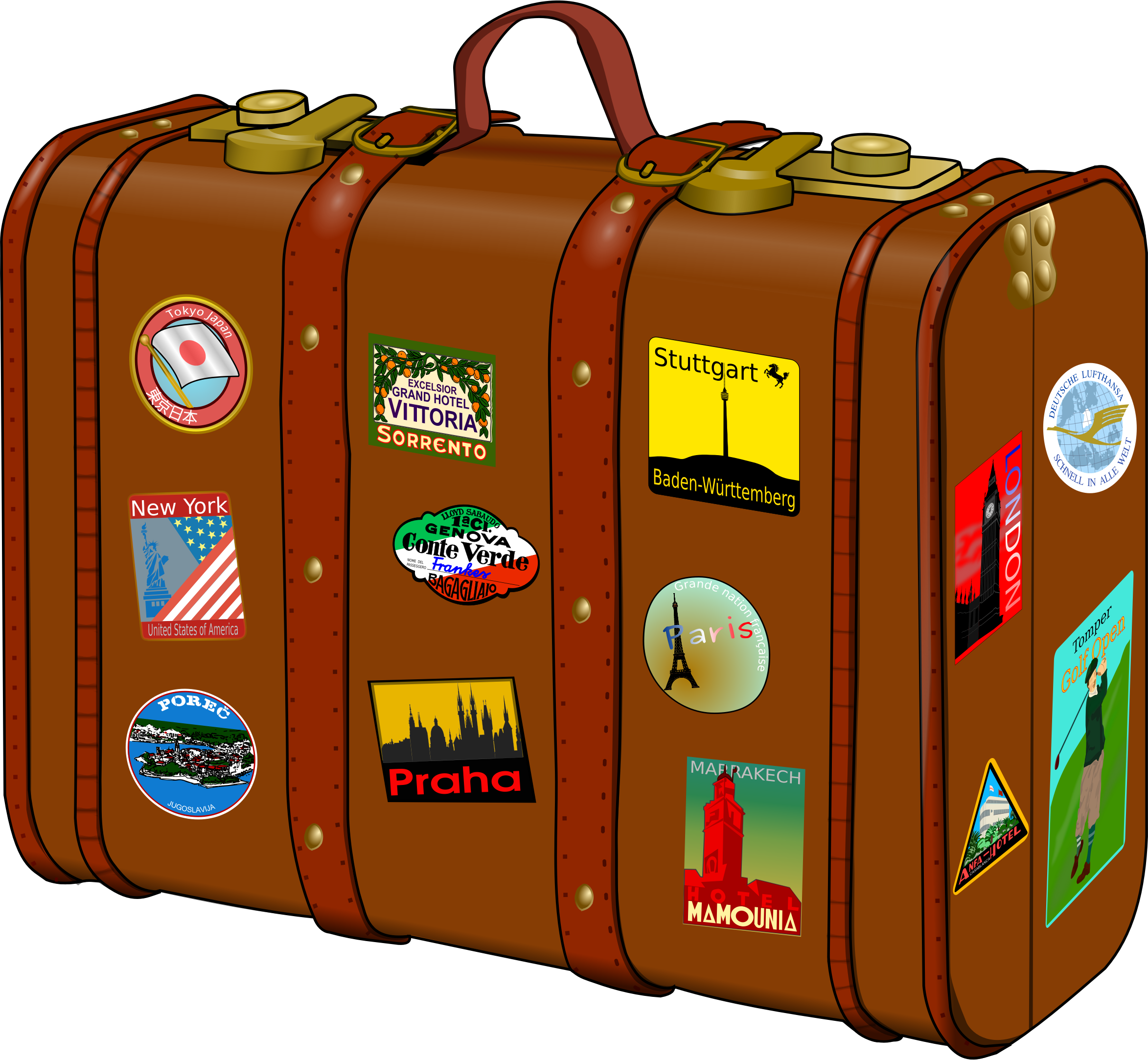 Koffer Suitcase Brown PNG Image