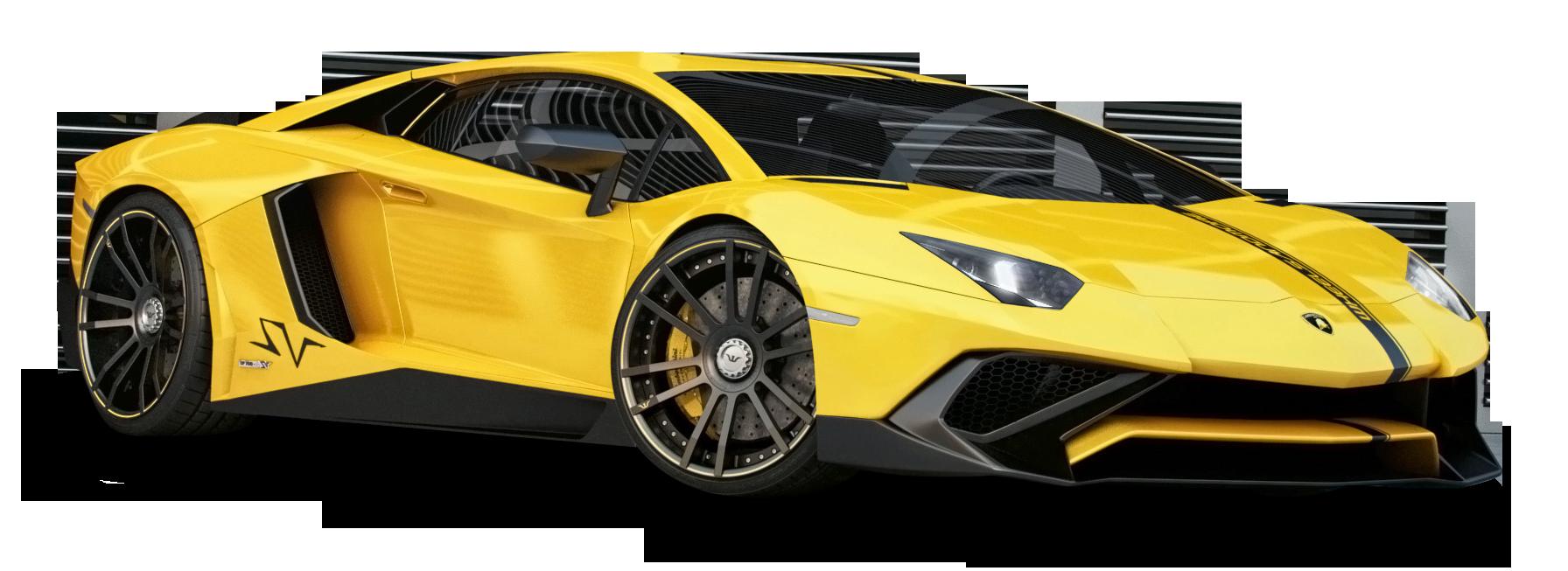 Lamborghini Aventador Yellow Car Png Image Purepng Free
