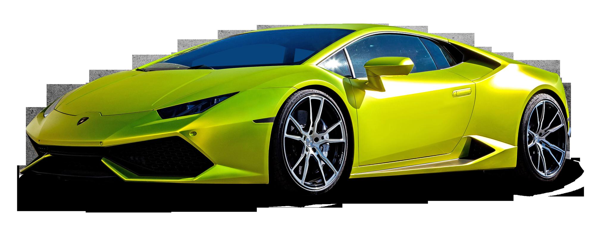 Download Lamborghini Huracan Green Car Png Image For Free