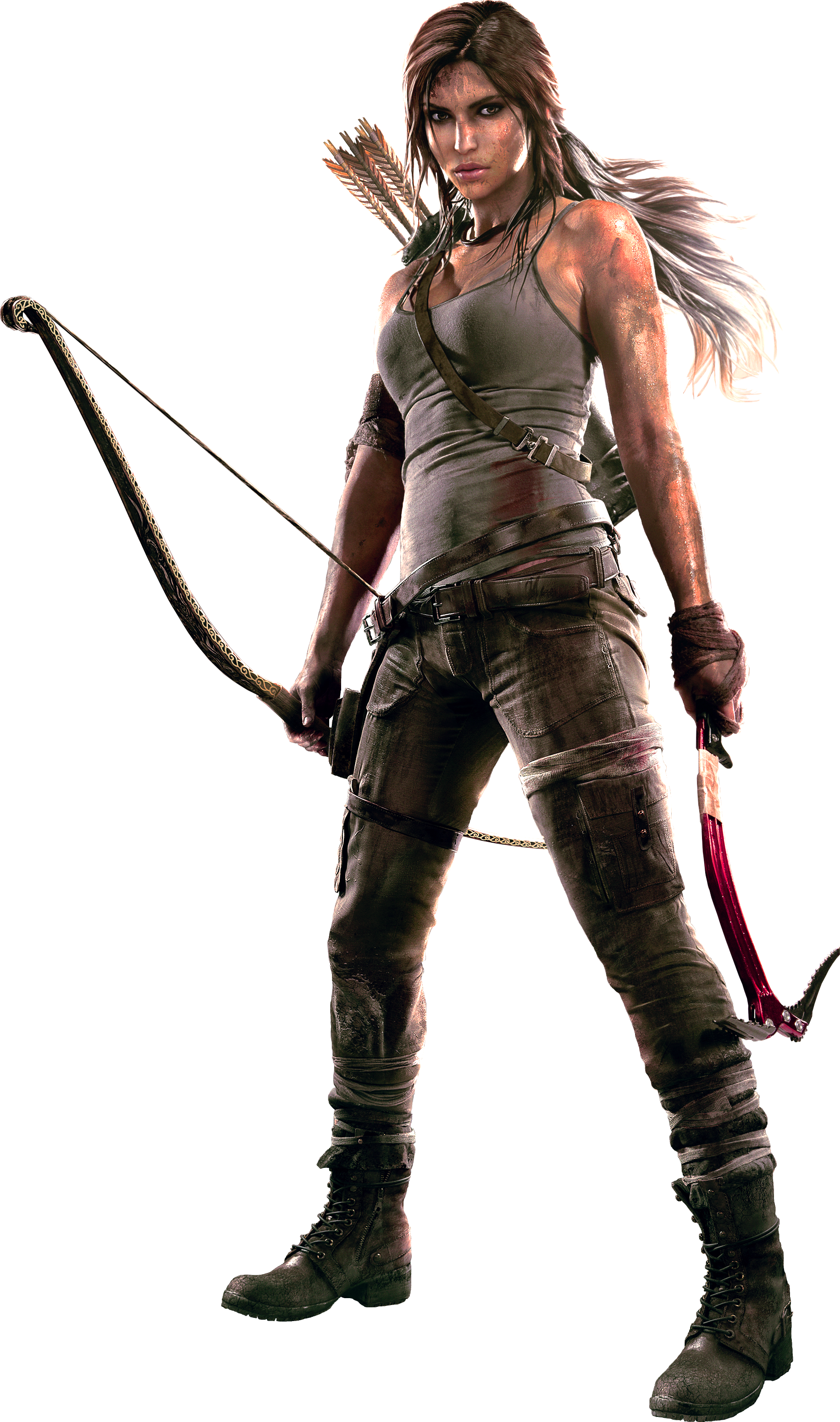 Download Lara Croft Tomb Raider With Bow Png Image For Free