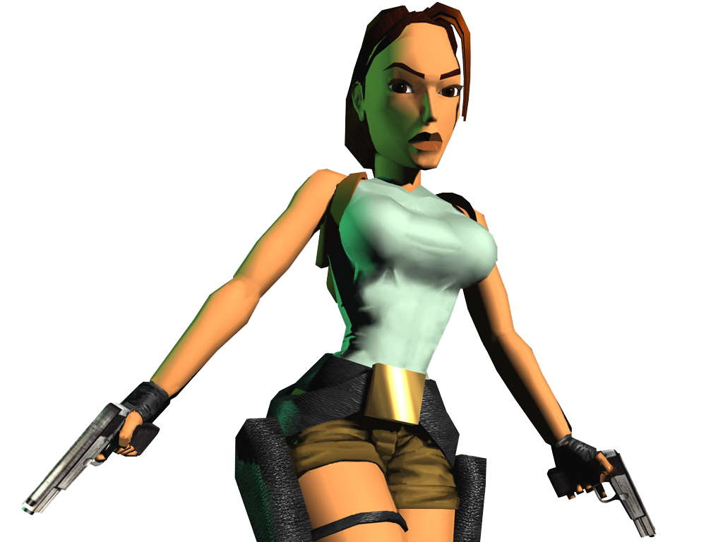 Download Lara Croft Tomb Raider With Guns Png Image For Free