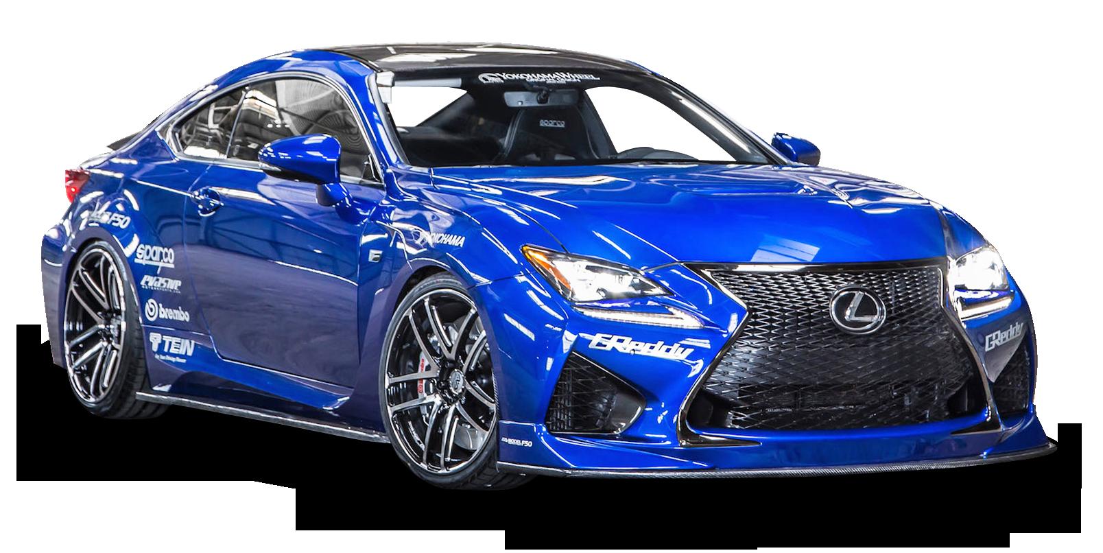 Lexus RC F Blue Car