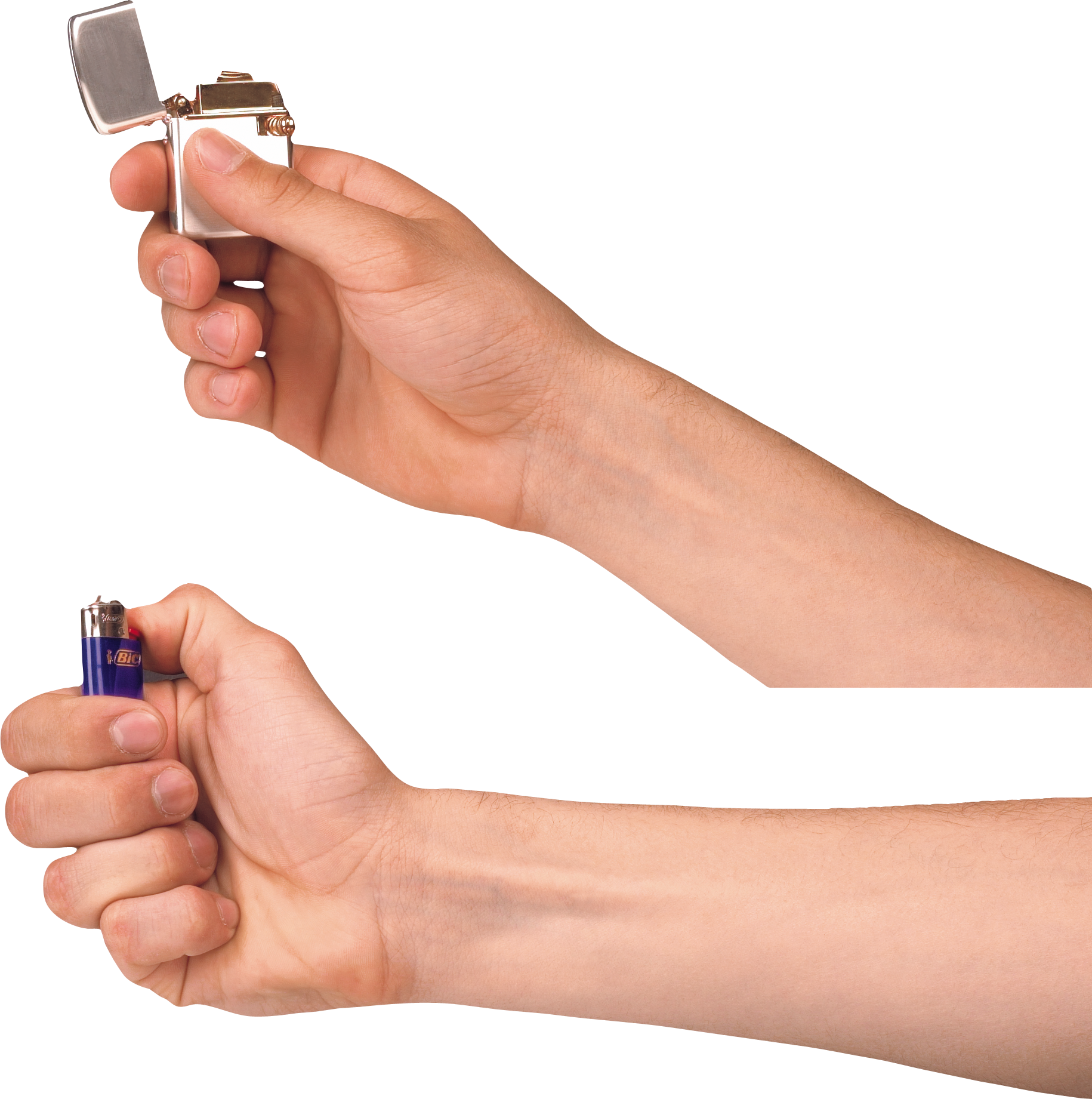 Lighter, Zippo On Hand PNG Image