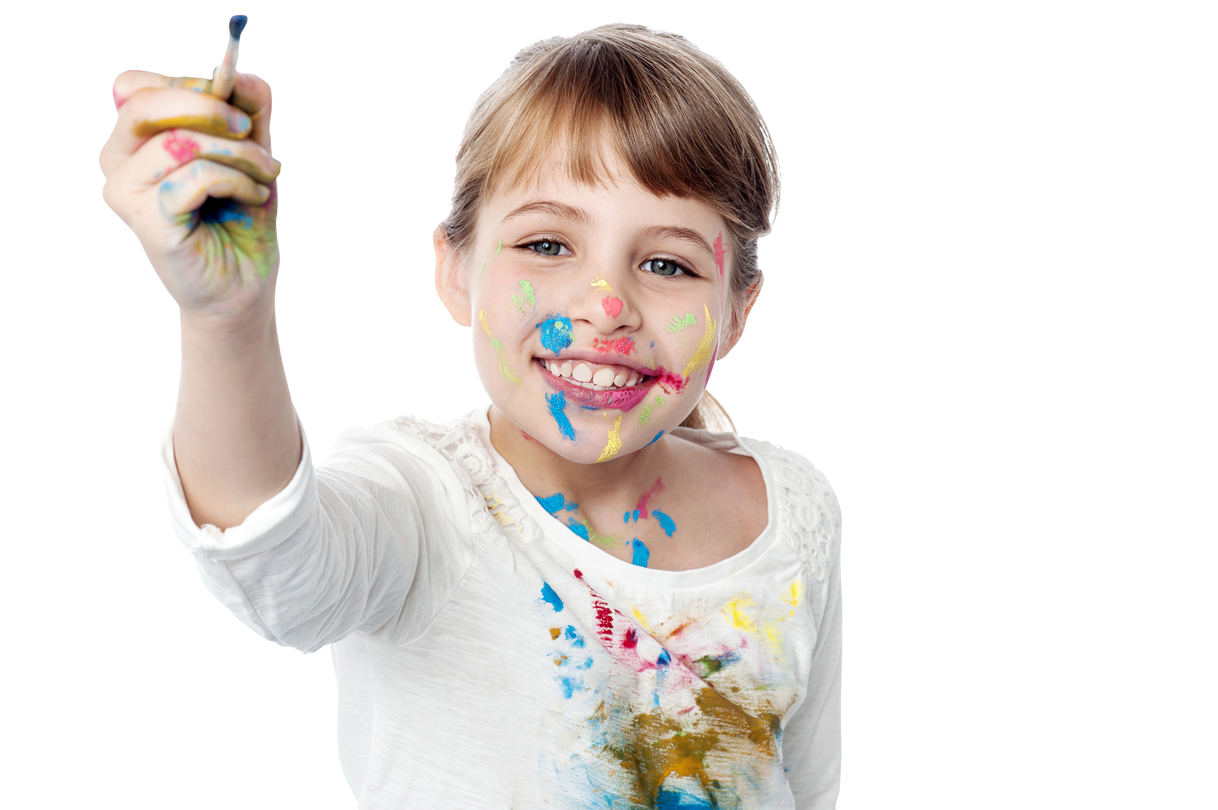 Little Girl Hands Paint PNG Image