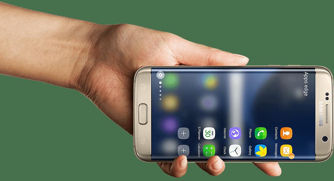 Man holding Samsung Phone