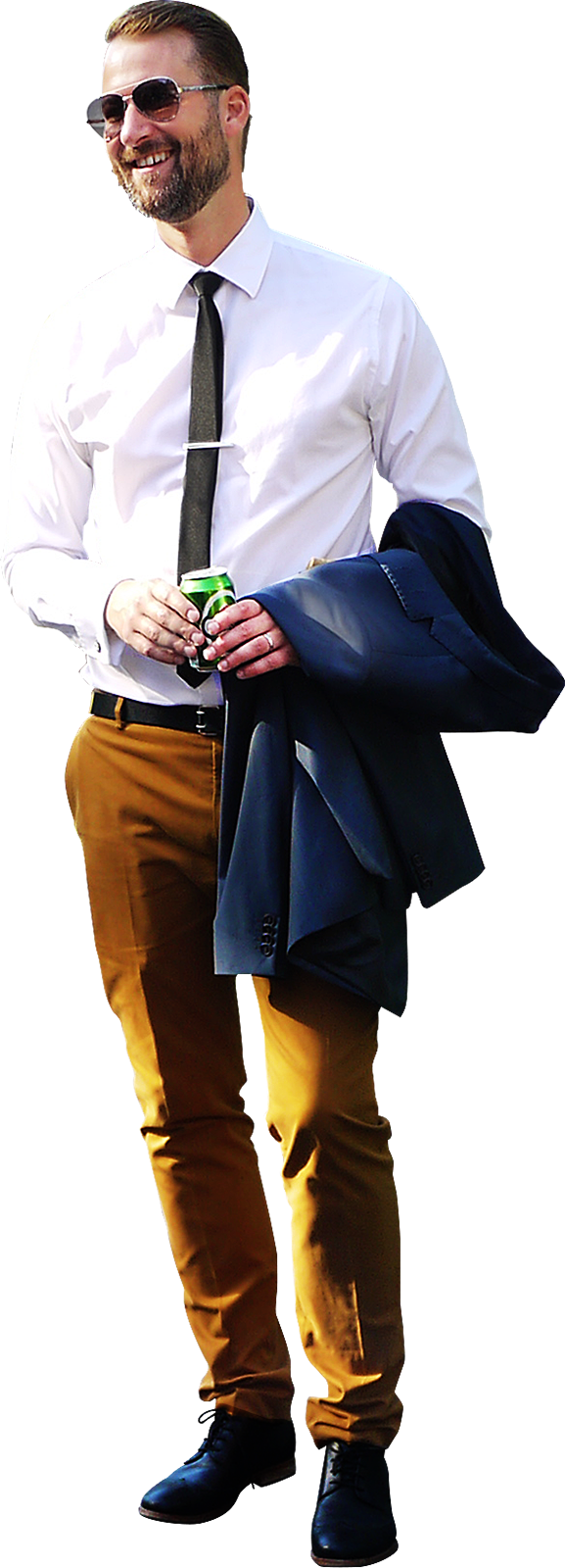 Man Standing Suit PNG Image