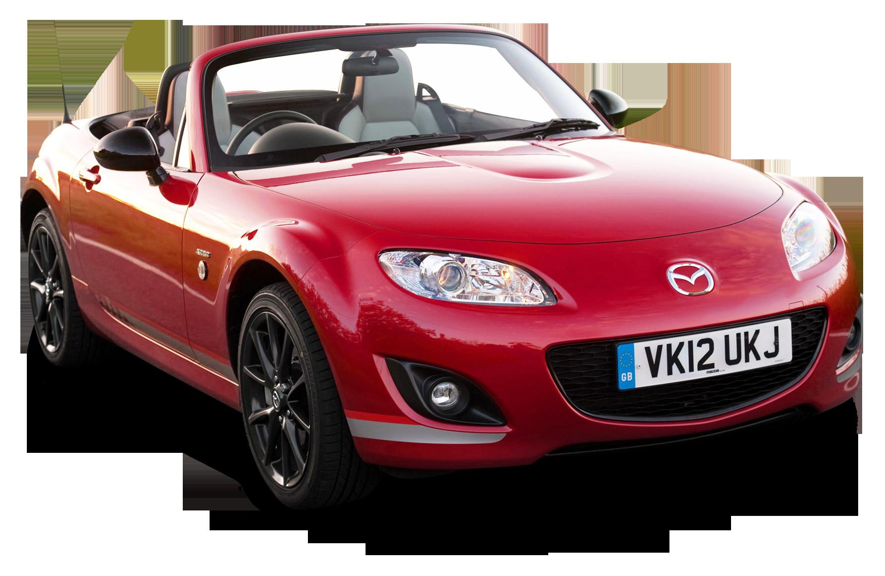 Mazda MX 5 Kuro Red Car PNG Image