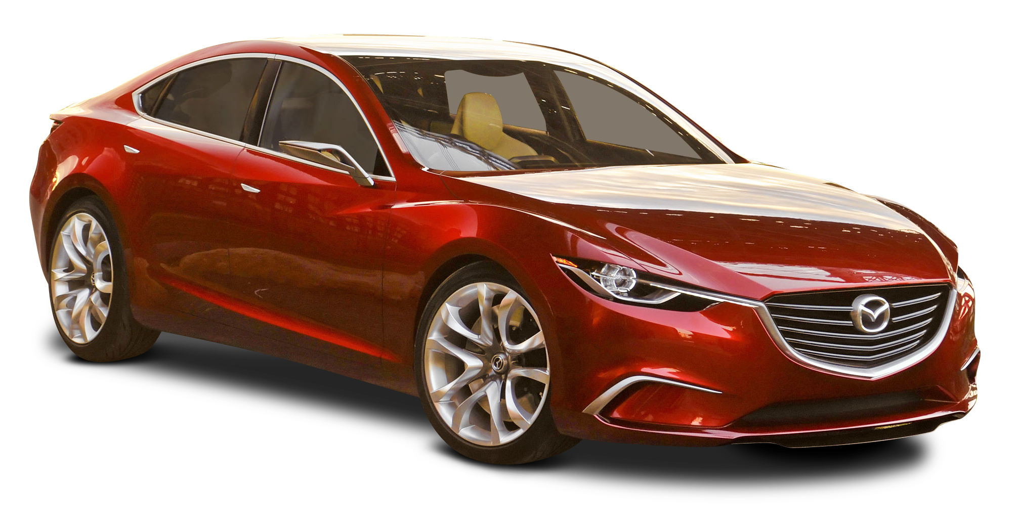 Mazda Takeri Red Car PNG Image
