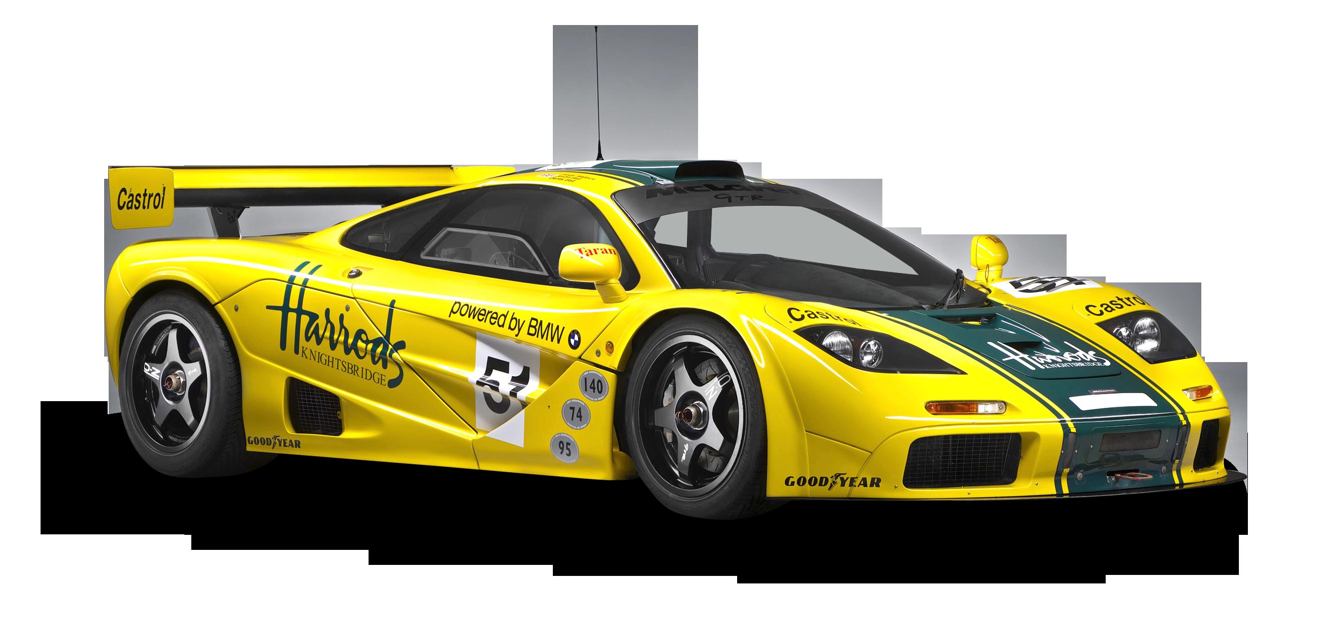 McLaren P1 GTR Yellow Sports Car