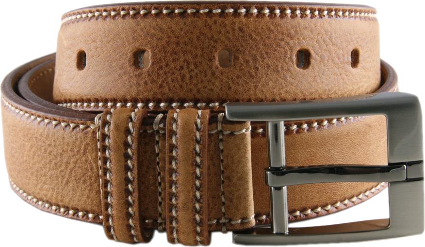 Men Formal Brown Genuine Leather Belt PNG Image