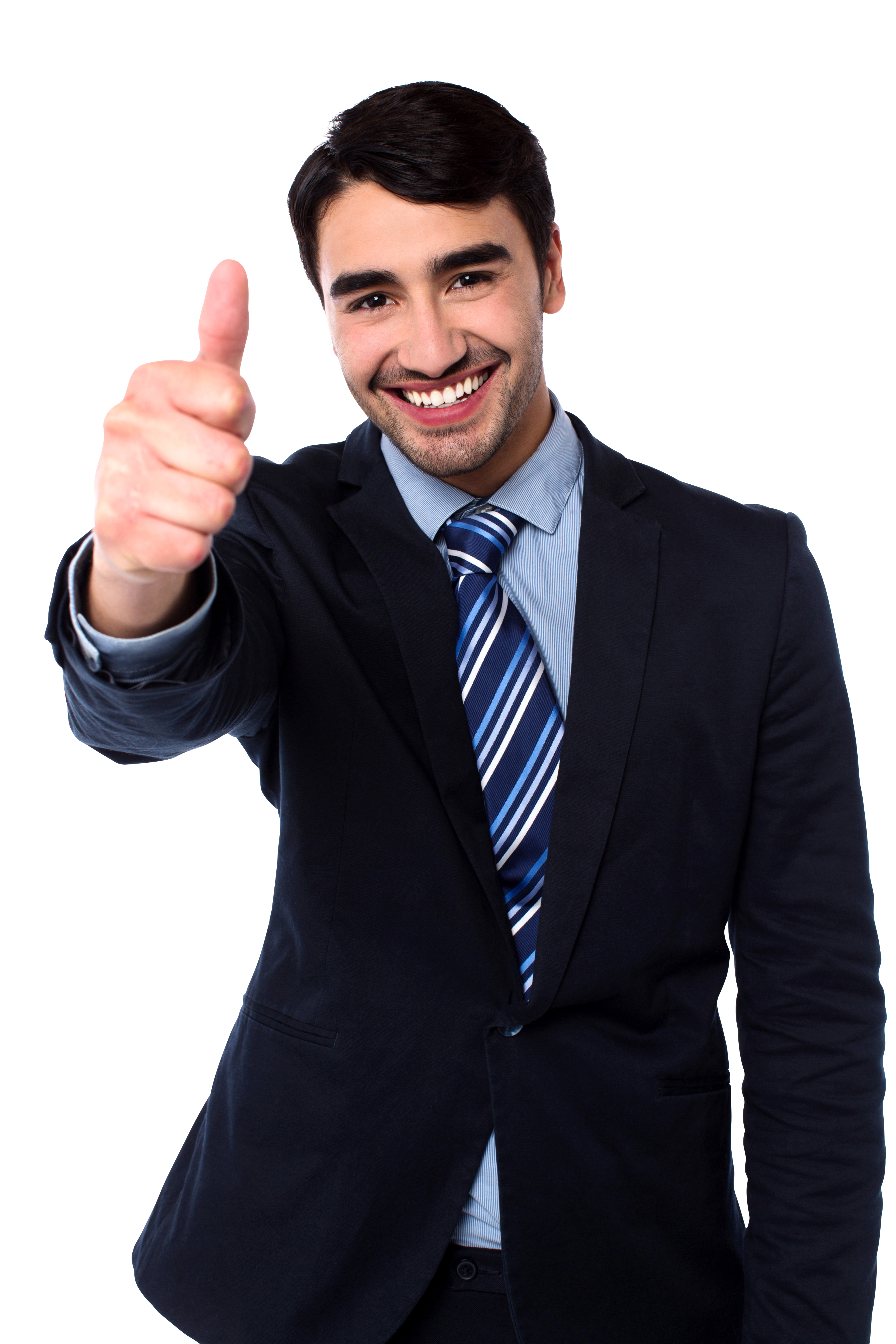Men Pointing Thumbs Up PNG Image