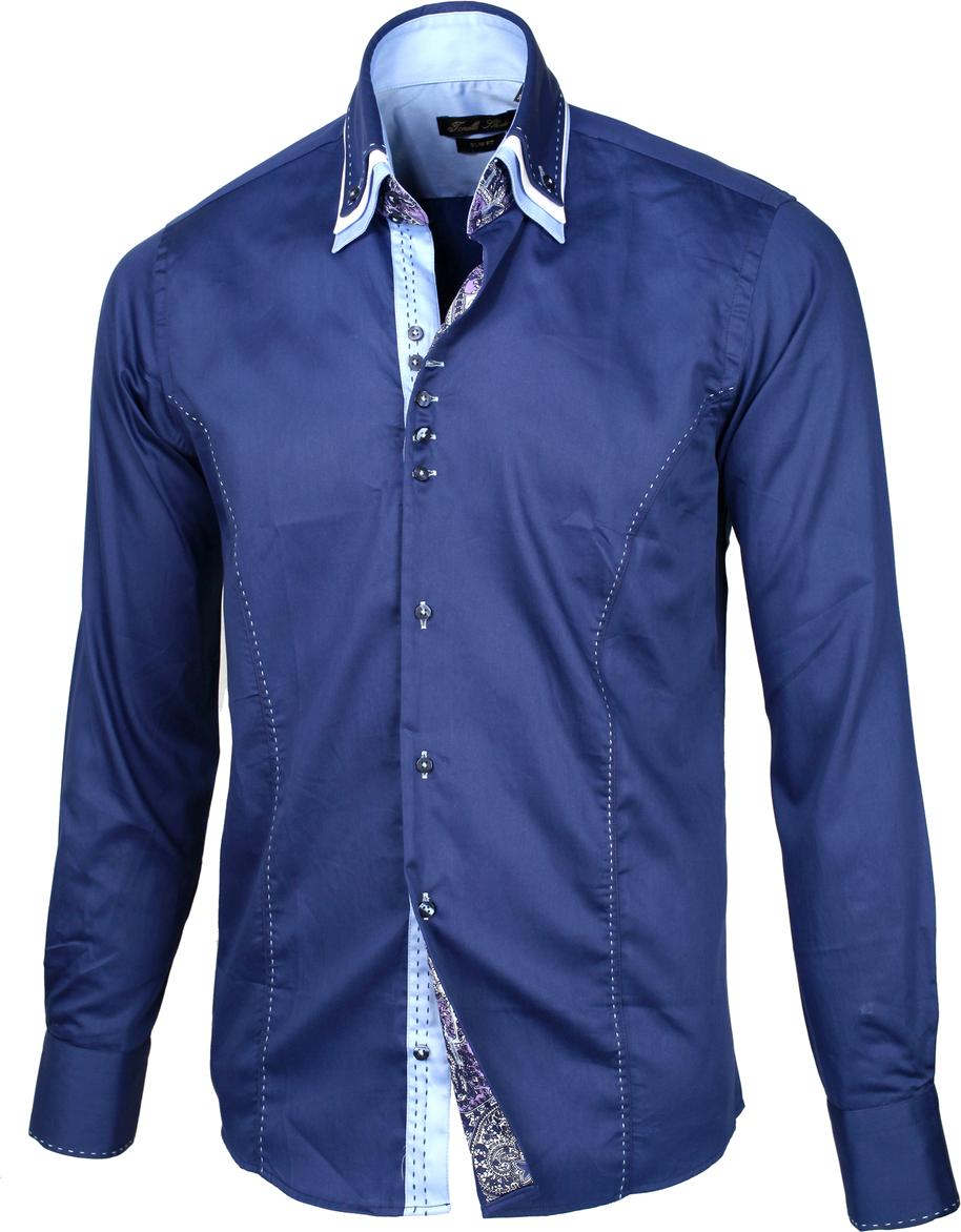 Men's Stylish Shirt Blue PNG Image