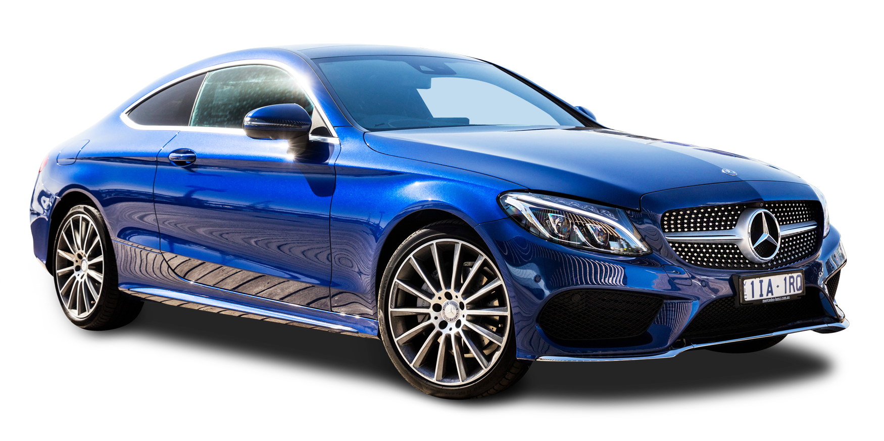 Mercedes Benz C Class Blue Car PNG Image
